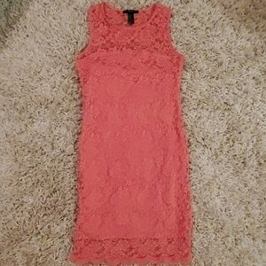 Forever 21 pink bodycon mini dress